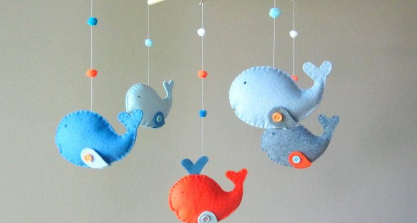Baby Crib Mobile Custom Whale Zoology