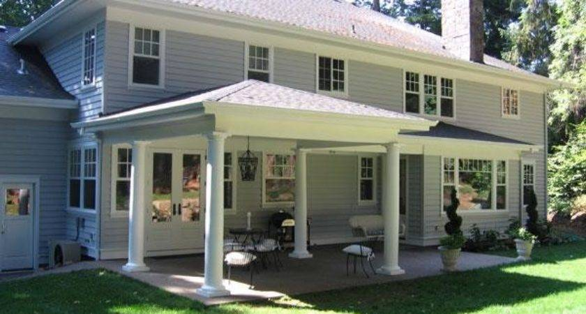 Back Porch Ideas Casual Cottage