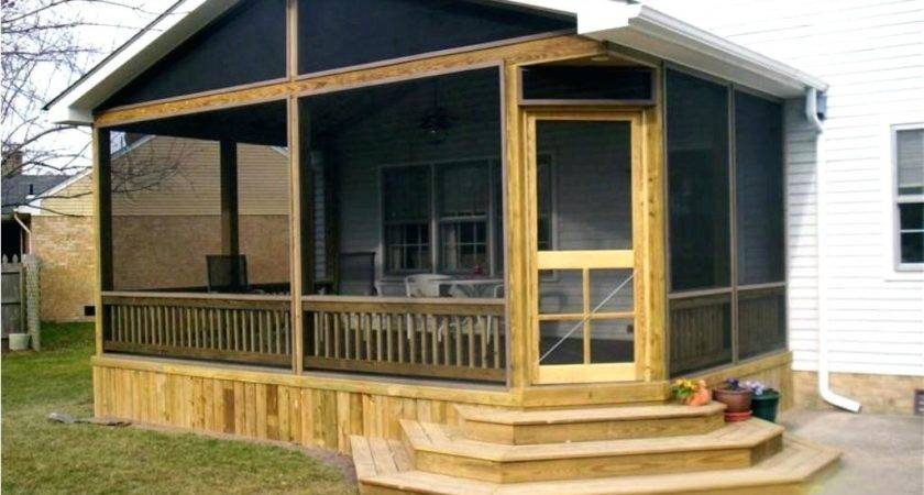 Back Porch Ideas Mobile Homes Cool Design Screened