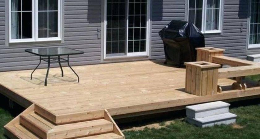 Backyard Deck Design Ideas Small Decks Home