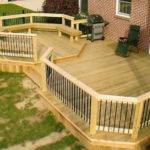 Backyard Deck Ideas Home Round