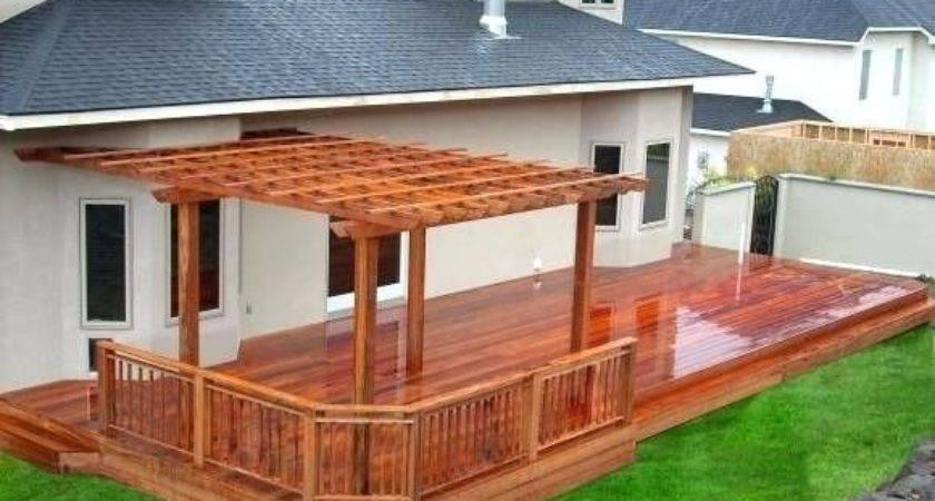 Backyard Deck Plans Designs Exemplary
