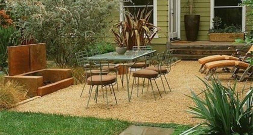 Backyard Patio Ideas Gravel Landscaping