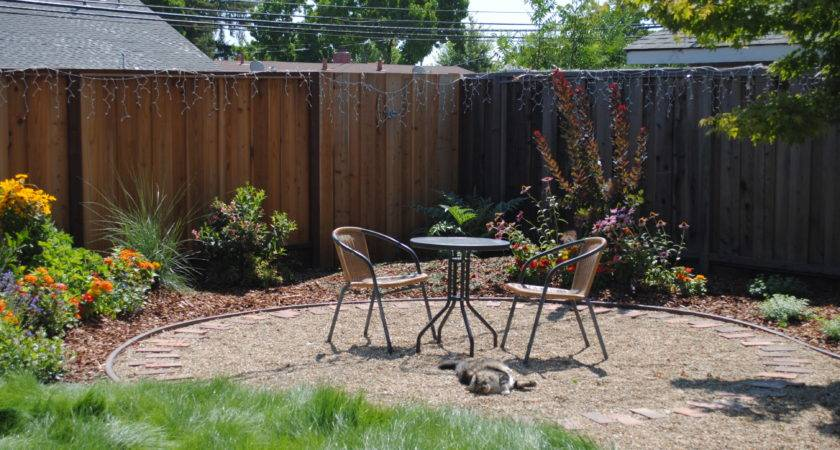 Backyard Patio Ideas Gravel Photos Landscaping