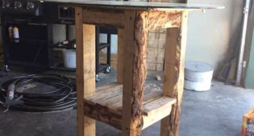 Bar Table Made Out Recycled Pallets