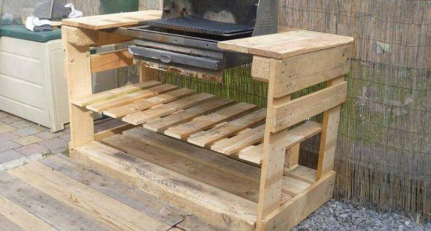 Barbecue Pallets Diy Pallet Furniture