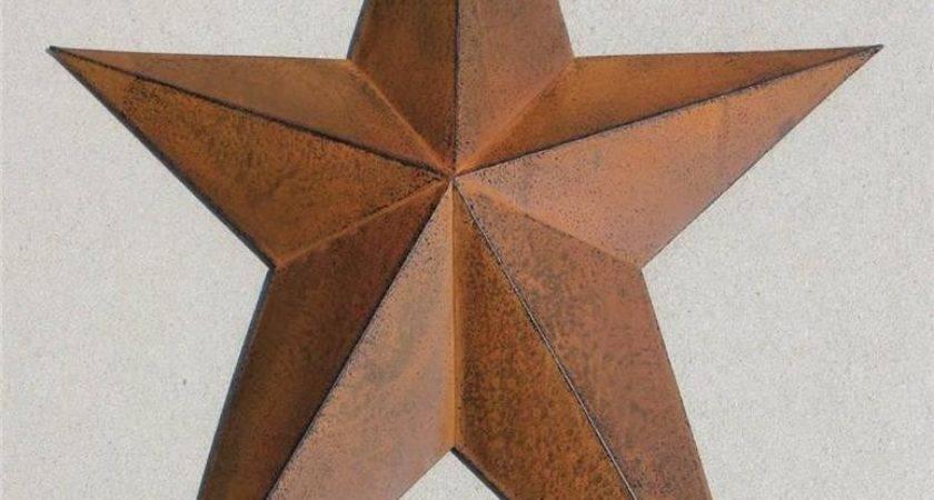 Barn Star New Americana Texas Brown Metal Wall