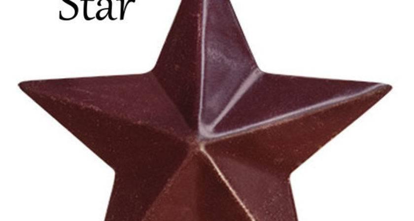 Barn Star Small Metal Burgundy