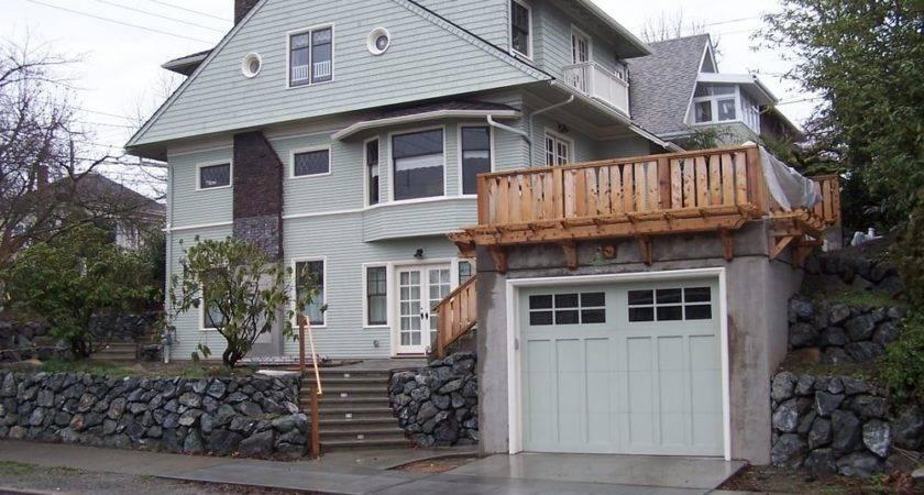 Basement Bunker Garage Addition Under Existing Home