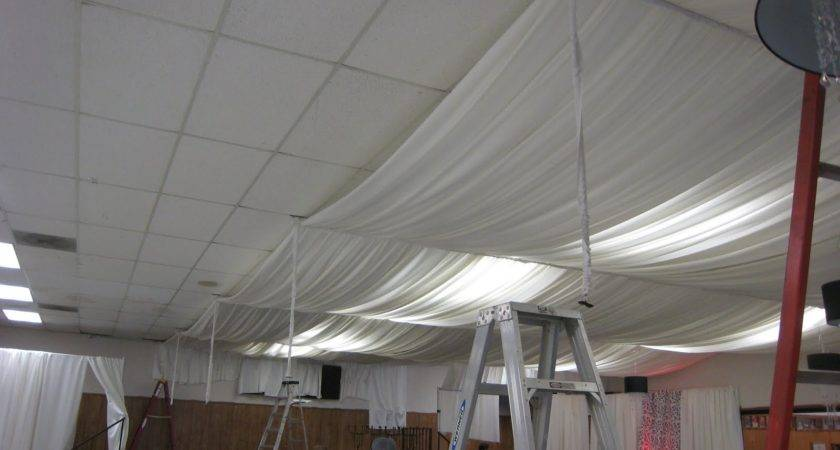 Basement Ceiling Ideas Fabric Here Take Your