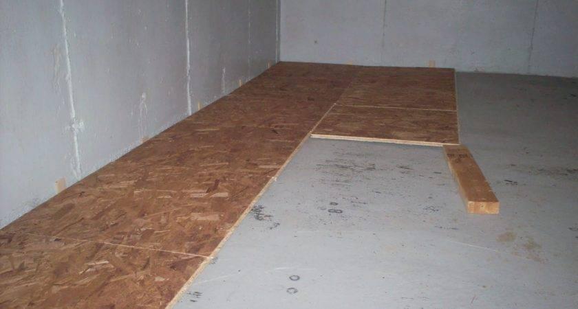 Basement Sub Floor Glassman House Subfloor