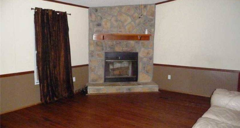 Bath Mobile Home Single Wide Has Wood Burning Fireplace