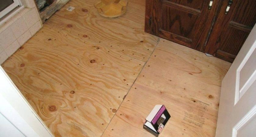 Bathroom Subfloor Wood Basement