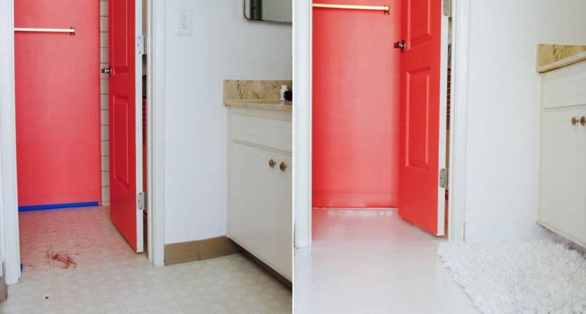 Bathroom Tile Makeover Paint Ramshackle Glam