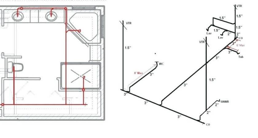 Bathroom Vent Diagram Drain Plumbing