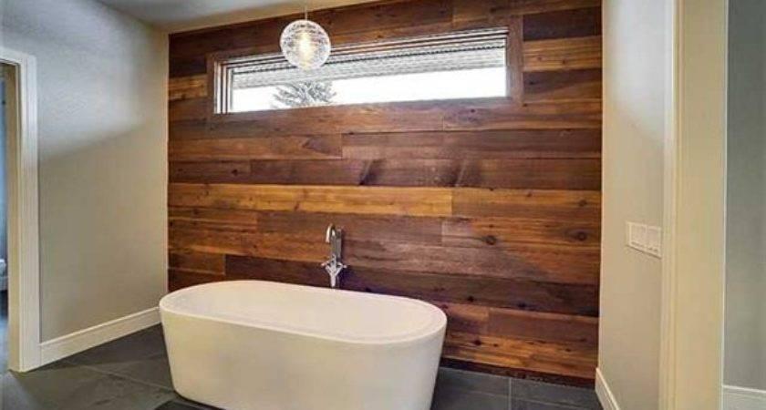 Bathrooms Wood Wall Designs