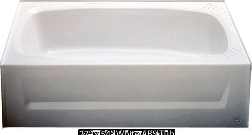 Bathtub White Abs Tub Left Hand Drain Mobile Home