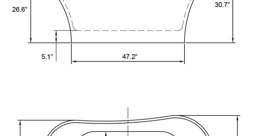Bathtubs Idea Awesome Bathtub Measurements