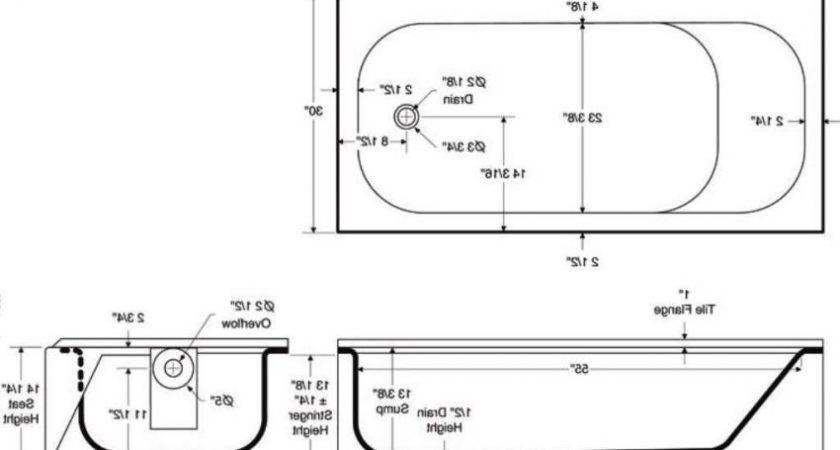 Bathtubs Idea Bathtub Measurements Sizes