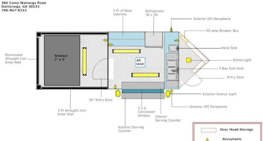Bbq Layout Advanced Concession Trailers
