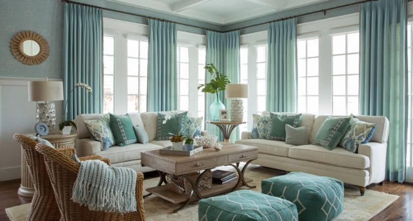 Beach Inspired Home Blue White Kitchen