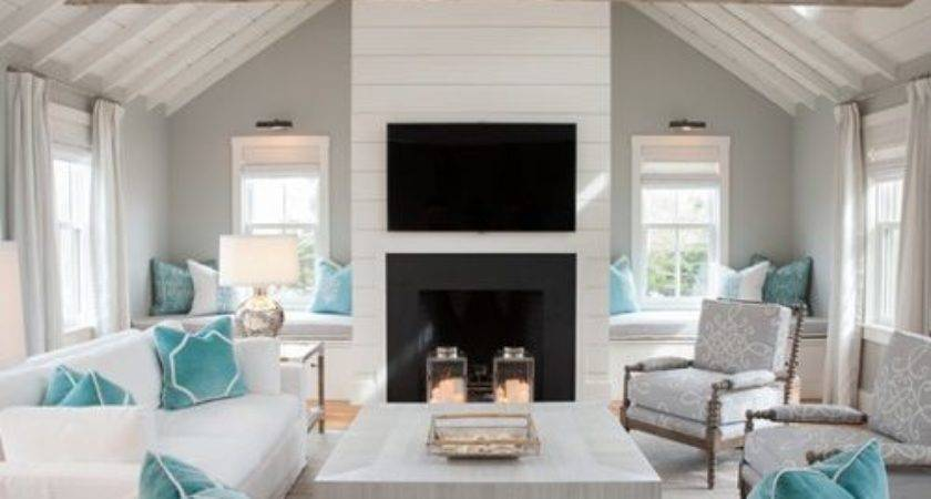 Beach Style Living Room Design Ideas Remodel