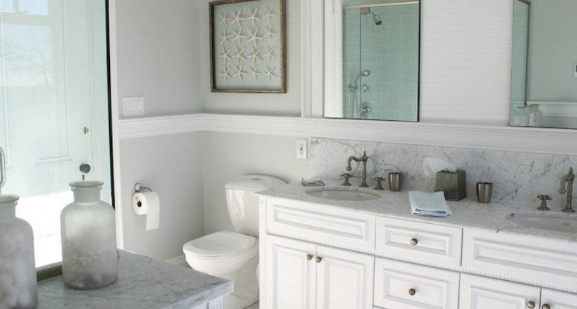 Beachy Bathroom Cottage Molly Frey Design