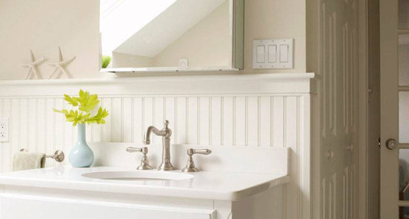 Beadboard Cabinets Cottage Bathroom Bhg