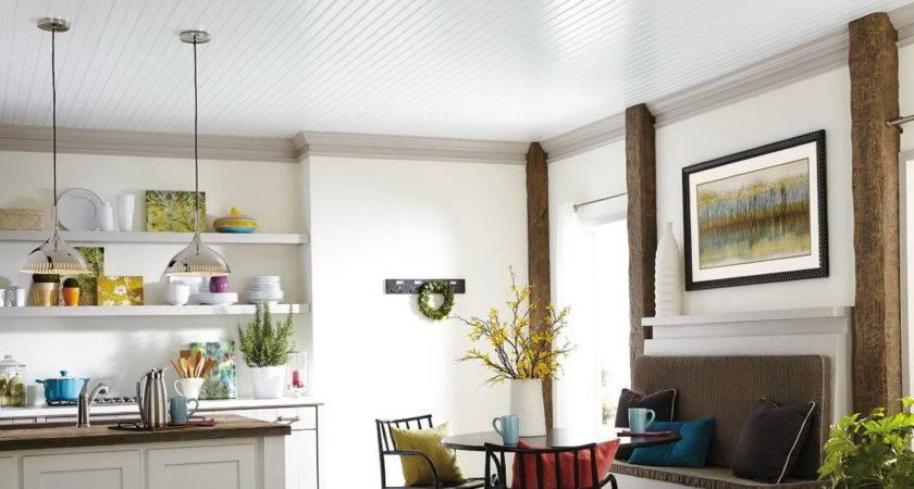 Beadboard Ceiling Planks Cover Dlrn Design Set