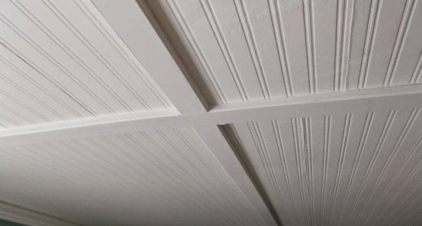 Beadboard Ceiling Seams