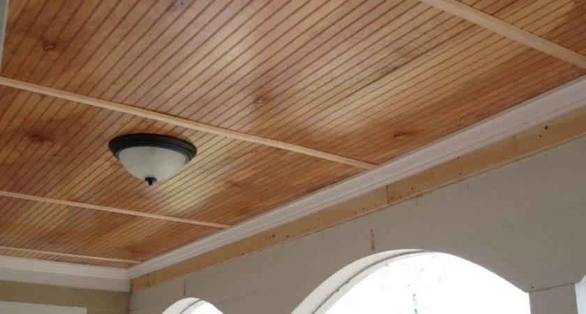 Beadboard Porch Ceiling Blue Modern Design