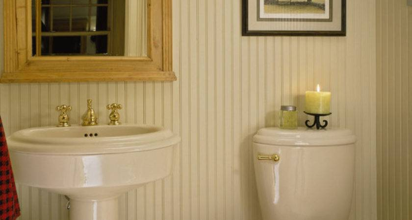 Beadboard Powder Room Design Ideas Remodel