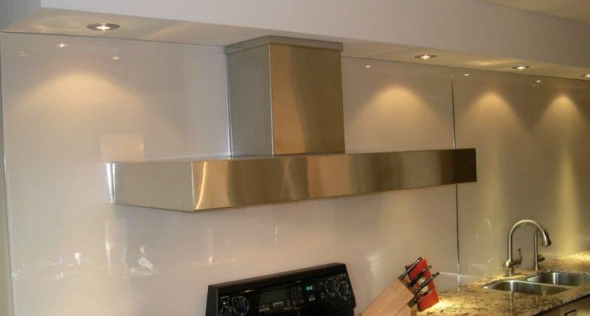 Beautiful Back Painted Glass Backsplash Kitchen