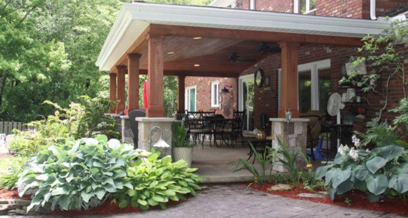 Beautiful Covered Patio Cleveland Rustic