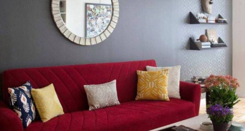 Beautiful Dark Red Paint Color Room Home Combo