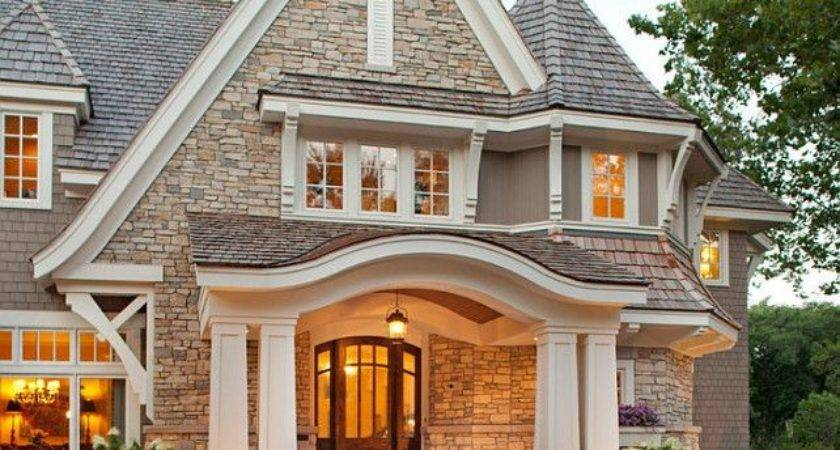 Beautiful Exterior Stone Dramatic Roof Lines
