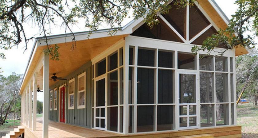 Beautiful Prefab Cabin Screened Porch