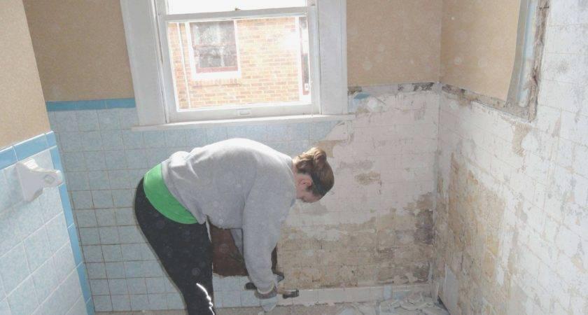 Beautiful Remove Tile Bathroom Wall