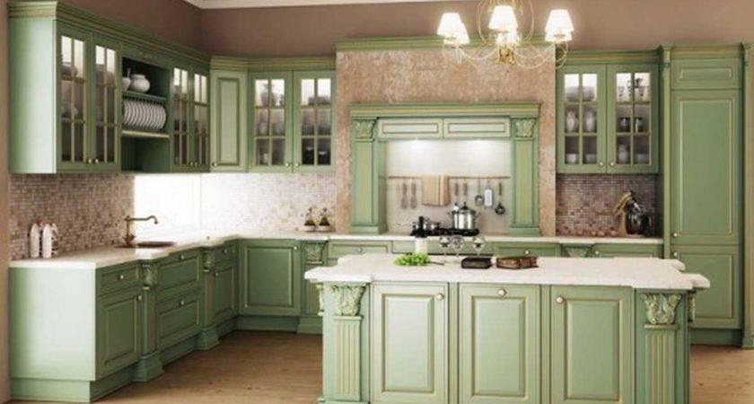 Beautiful Sage Green Kitchen Photos