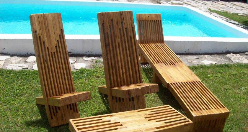 Beautiful Stacked Pallet Wood Lounge Set Pallets