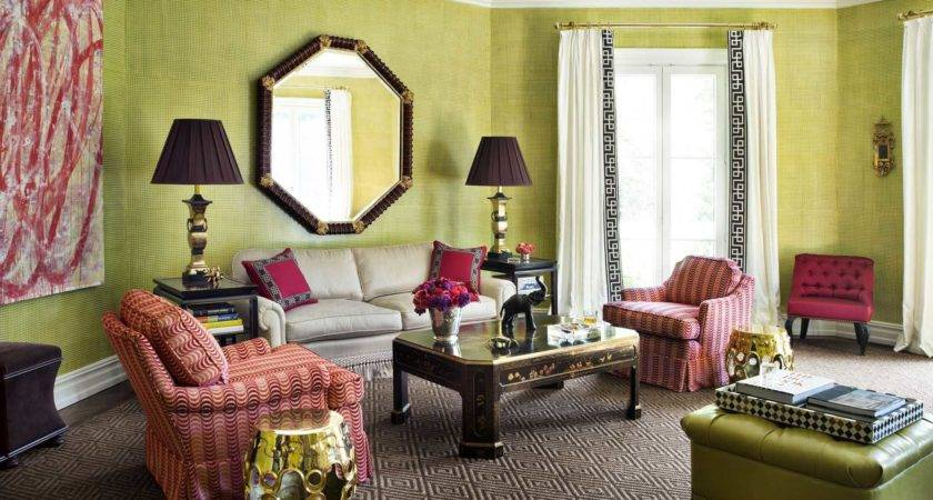 Beautiful Wall Colors Living Room Accent Red