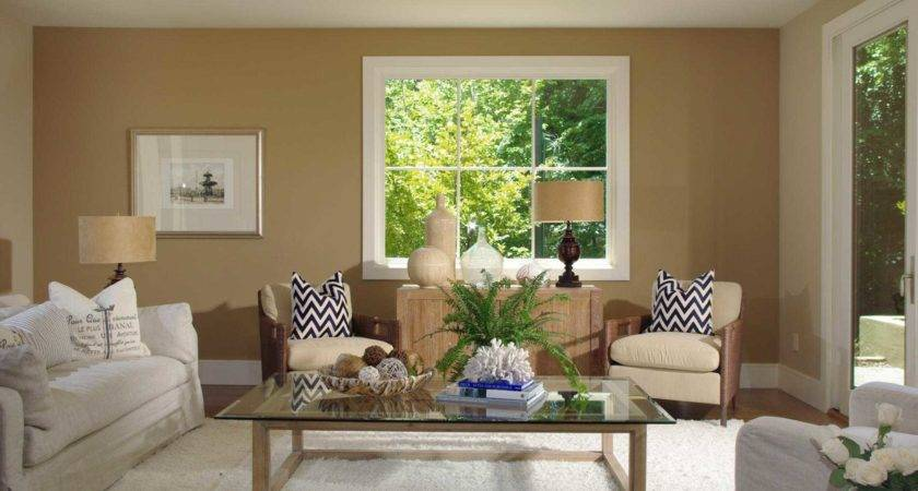 Beautiful Wall Colors Living Room Brown Sofa
