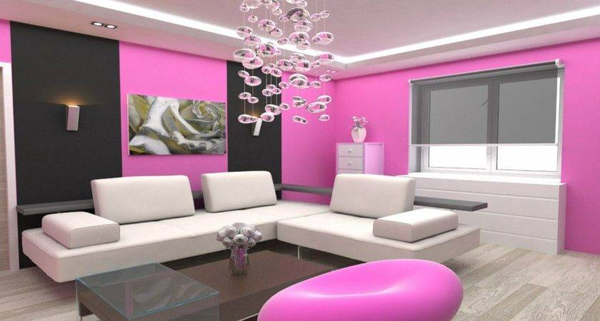 Beautiful Wall Paint Colors Pink Living Room Designs