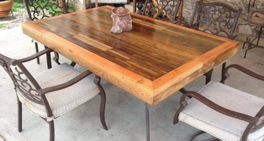 Beautiful Wood Patio Table Diy Outdoor Decorating