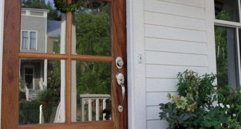 Beautifully Classic Farmhouse Stained Wood Doors