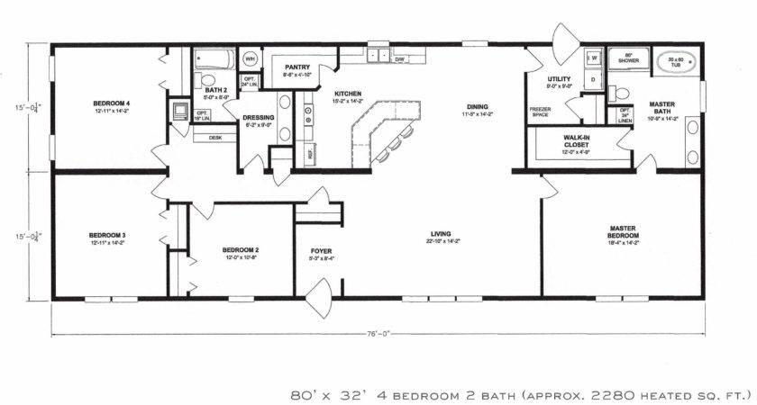 Bedroom Bath Double Wide Floor Plans Trailer