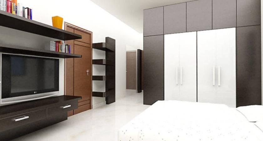 Bedroom Designs White Bed Sheet Modern Look Wooden Door