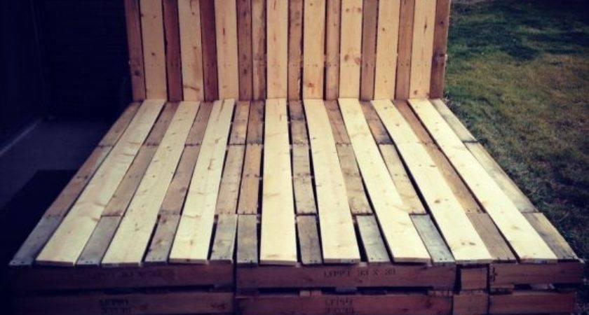 Bedroom Magnificent Wood Pallet Bed Frame Durable