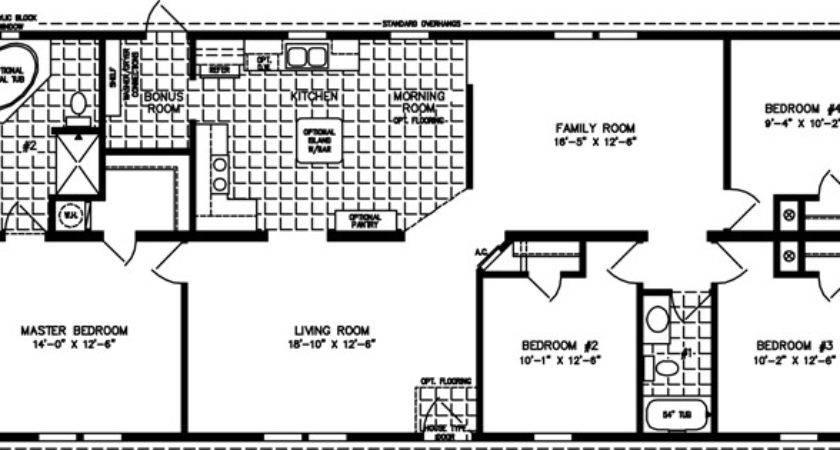 Bedroom Mobile Home Floor Plans Gurus