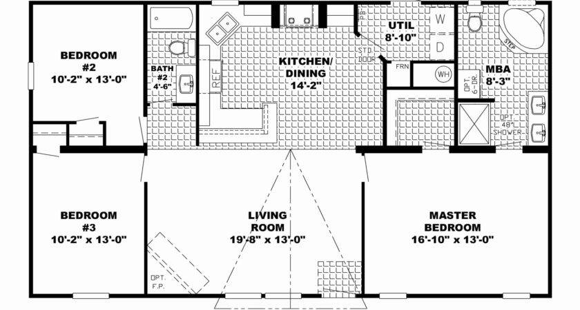 Bedroom Ranch House Plans Basement Best Open Floor
